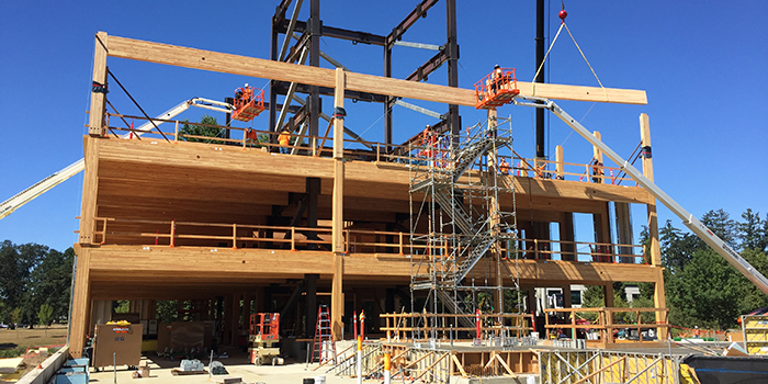 Mass timber building in Hillsboro, Oregon